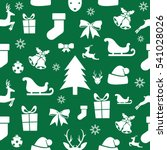 christmas seamless pattern on a ... | Shutterstock .eps vector #541028026
