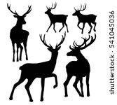 deer silhouette   vector... | Shutterstock .eps vector #541045036