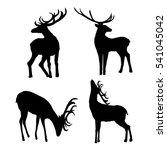 deer silhouette   vector... | Shutterstock .eps vector #541045042