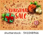 christmas sale template with... | Shutterstock .eps vector #541048966
