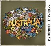 australia country hand... | Shutterstock .eps vector #541050502