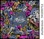 cartoon 3d doodles musical... | Shutterstock .eps vector #541050712