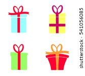 set gift box icon  christmas...