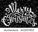 merry christmas poster with... | Shutterstock . vector #541057852