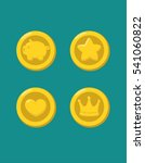 different icons of gold coins ... | Shutterstock .eps vector #541060822
