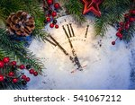 Christmas Clock With Winter...