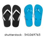 black and blue rubber slippers... | Shutterstock . vector #541069765
