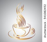 a cup of coffee  vector  ashy... | Shutterstock .eps vector #541082452