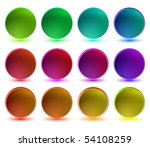set of shiny buttons | Shutterstock .eps vector #54108259