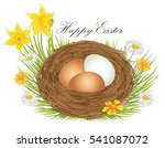 nest with easter eggs and... | Shutterstock .eps vector #541087072