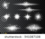 set  white glowing light burst... | Shutterstock .eps vector #541087108