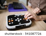 blind person using audio book... | Shutterstock . vector #541087726
