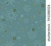 seamless falling snowflakes... | Shutterstock .eps vector #541088326