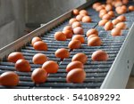 fresh and raw chicken eggs on a ... | Shutterstock . vector #541089292