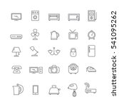 icons of various household... | Shutterstock .eps vector #541095262
