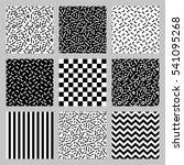 cute set of seamless geometric... | Shutterstock .eps vector #541095268