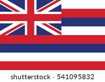hawaii flag  usa. vector format | Shutterstock .eps vector #541095832