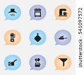 set of 9 editable food icons....   Shutterstock .eps vector #541097572