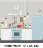 vector illustration of kitchen... | Shutterstock .eps vector #541103188