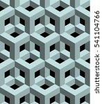 3d abstract cubes  seamless... | Shutterstock .eps vector #541104766