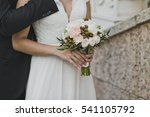 embrace of the newlyweds close... | Shutterstock . vector #541105792