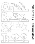 alphabet coloring page. letters ... | Shutterstock .eps vector #541106182