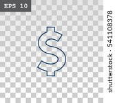 dollar icon vector.  | Shutterstock .eps vector #541108378