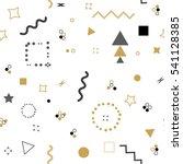 trendy geometric elements... | Shutterstock . vector #541128385