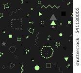 trendy geometric elements... | Shutterstock . vector #541130002