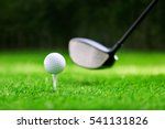 shot of golf ball with golf club | Shutterstock . vector #541131826