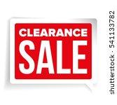 clearance sale patch speech... | Shutterstock .eps vector #541133782