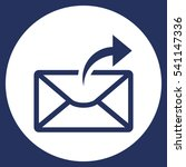 mail icon  vector flat design...