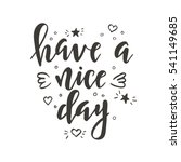 hand drawn typography poster.... | Shutterstock .eps vector #541149685