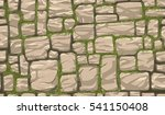 seamless brown stone wall... | Shutterstock .eps vector #541150408