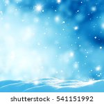 winter background with snow and ... | Shutterstock . vector #541151992