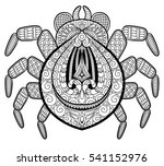 spider in zentangle style for... | Shutterstock .eps vector #541152976