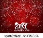 lettering happy new year 2017...   Shutterstock . vector #541153216