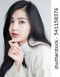 asian girl poses handle her... | Shutterstock . vector #541158376