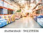 blurred large warehouse with...   Shutterstock . vector #541159336