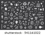 social media icons vector set.... | Shutterstock .eps vector #541161022