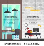 set of colorful interior with... | Shutterstock .eps vector #541165582