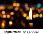 Candles Light In Night
