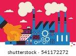 a businessperson puts a coin... | Shutterstock .eps vector #541172272