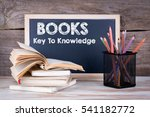 books  key to knowledge. stack