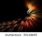 Orange Flaming Shattered Glass...