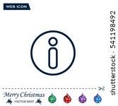 information sign icon  vector... | Shutterstock .eps vector #541198492