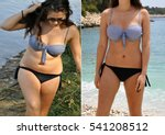 real before and after weight... | Shutterstock . vector #541208512