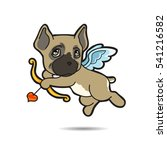 dog cupid come for help your... | Shutterstock .eps vector #541216582