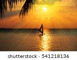 Sunset Wind Surfer  Maldives
