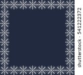 snowflake vector winter frame | Shutterstock .eps vector #541222372